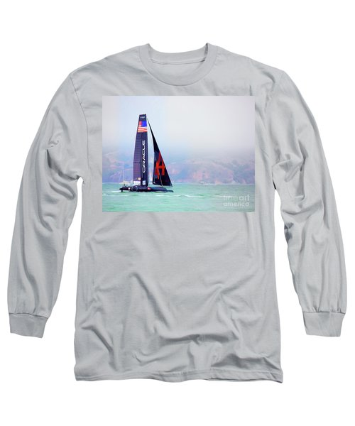Oracles Usa  America's Cup Paint  Long Sleeve T-Shirt