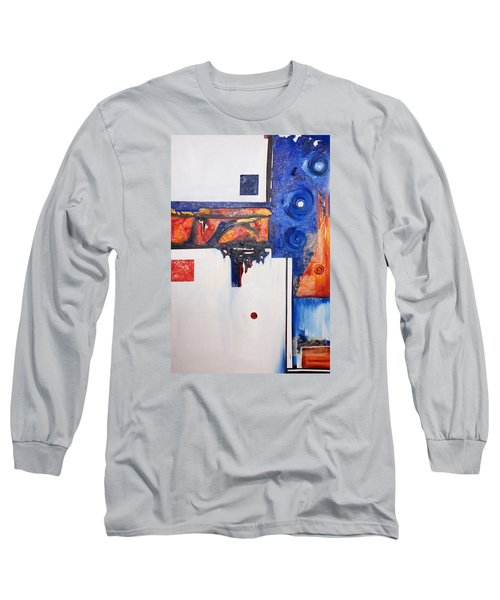Orange And Blue Long Sleeve T-Shirt