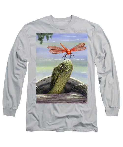 Orange Dragonfly Long Sleeve T-Shirt