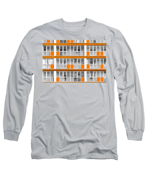 Orange Exterior Decoration Details Of Modern Flats Long Sleeve T-Shirt