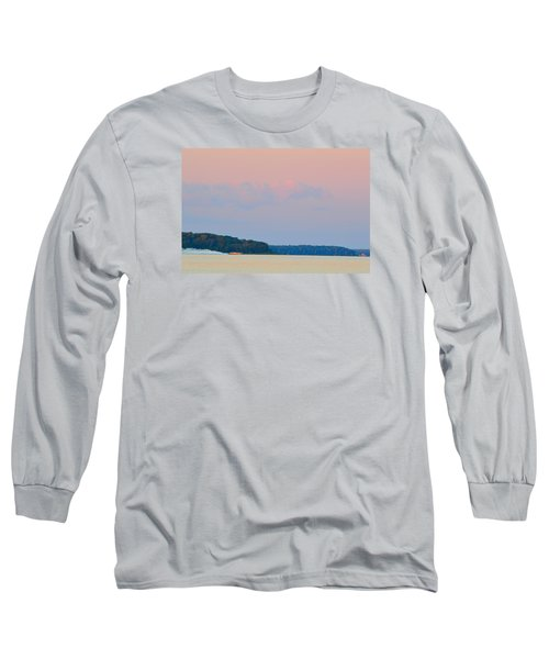 Long Sleeve T-Shirt featuring the photograph Orange Speedboat 2  by Lyle Crump