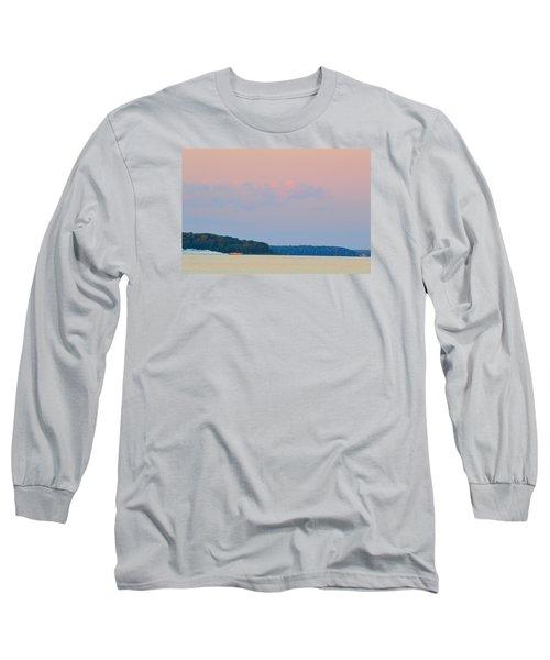 Orange Speedboat 2  Long Sleeve T-Shirt by Lyle Crump