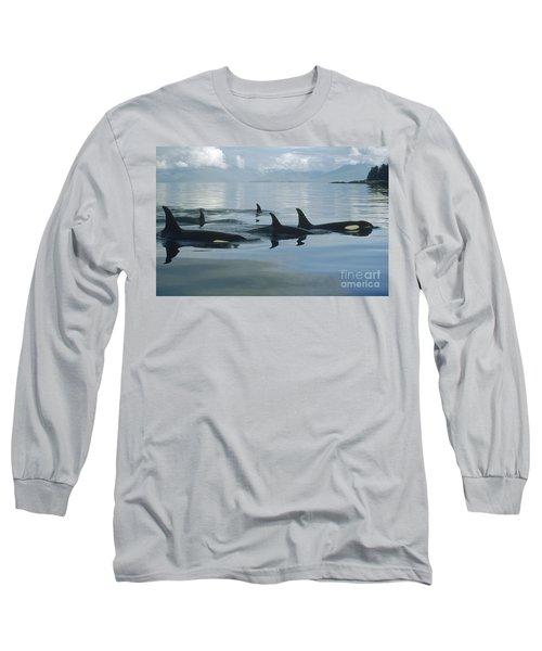 Orca Pod Johnstone Strait Canada Long Sleeve T-Shirt