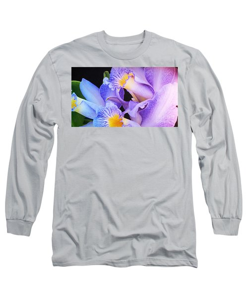 Orchid Bouquet Long Sleeve T-Shirt by Cindy Manero
