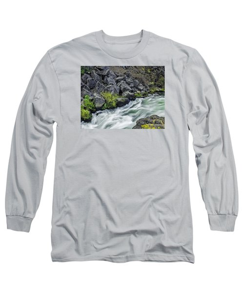 Long Sleeve T-Shirt featuring the photograph Oregon's Dillon Falls by Nancy Marie Ricketts