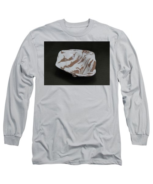 Organic Oval Marbled Ceramic Dish Long Sleeve T-Shirt by Suzanne Gaff