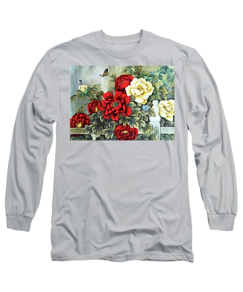 Long Sleeve T-Shirt featuring the photograph Oriental Flowers by Munir Alawi