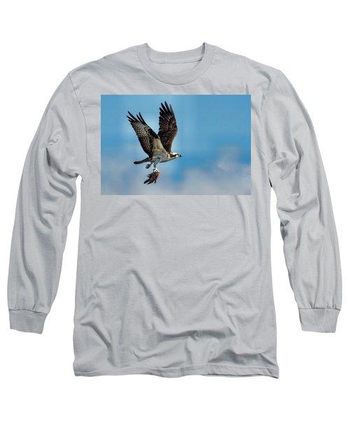 Osprey With Rainbow Bass 2 Long Sleeve T-Shirt