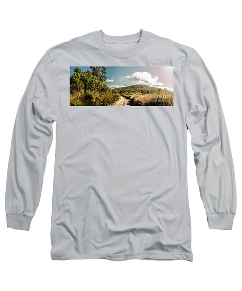 Outback Country Road Panorama Long Sleeve T-Shirt