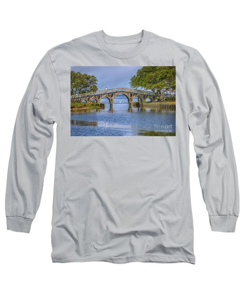 Long Sleeve T-Shirt featuring the photograph Outer Banks Whalehead Club Bridge  by Randy Steele