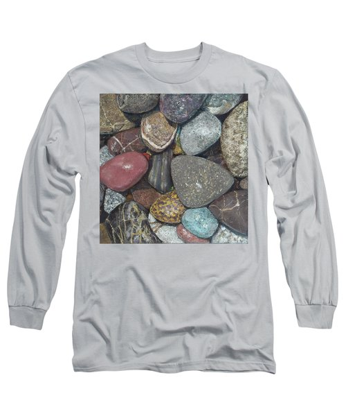 Pacific Nw Beach Rocks Long Sleeve T-Shirt