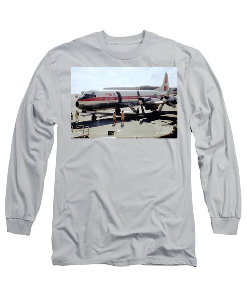 Pacific Southwest Airlines Lockheed L-188c, N376ps Long Sleeve T-Shirt