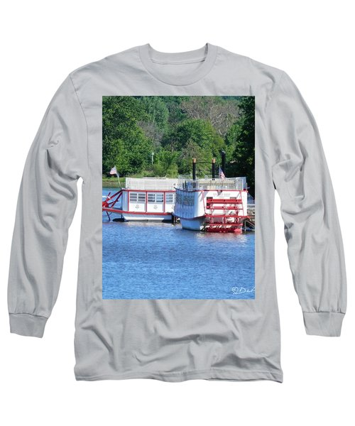 Paddleboat On The River Long Sleeve T-Shirt