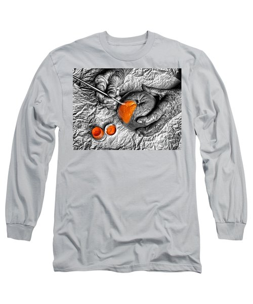 Paint An Orange Long Sleeve T-Shirt