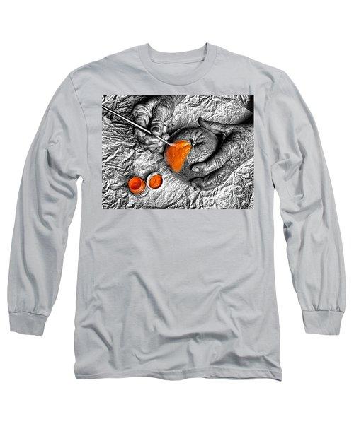 Paint An Orange Long Sleeve T-Shirt