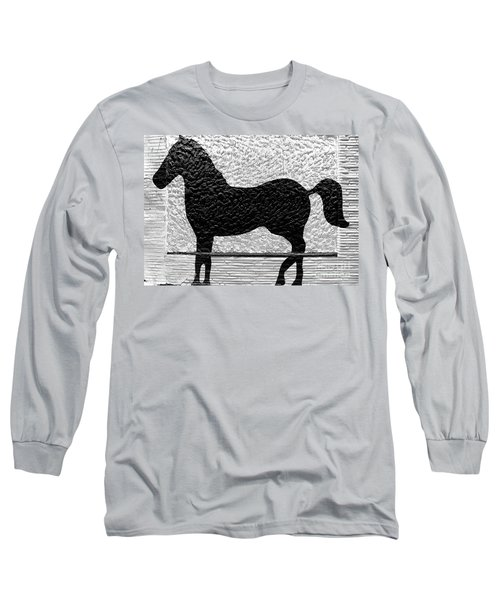 Long Sleeve T-Shirt featuring the photograph Painted Black - Stone Pony by Colleen Kammerer