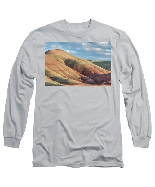 Painted Hill And Clouds Long Sleeve T-Shirt by Greg Nyquist