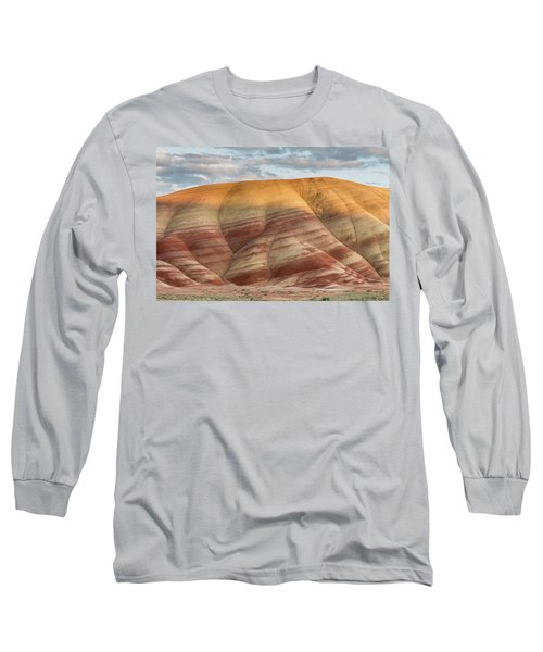 Long Sleeve T-Shirt featuring the photograph Painted Hill At Last Light by Greg Nyquist