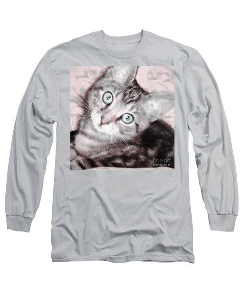 Pastel Bengal Kitten Long Sleeve T-Shirt
