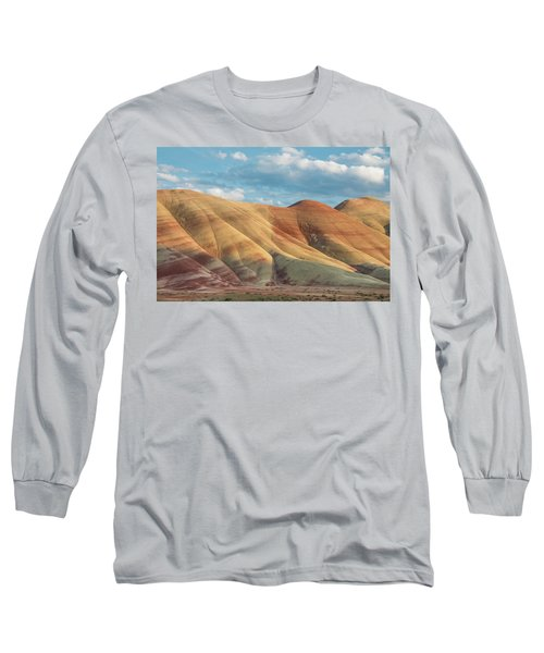 Painted Ridge And Sky Long Sleeve T-Shirt by Greg Nyquist