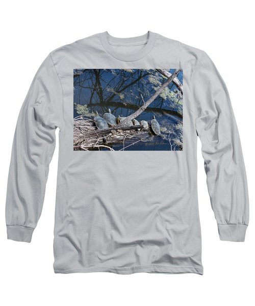 Painted Turtle Dance Line Long Sleeve T-Shirt by Edward Peterson