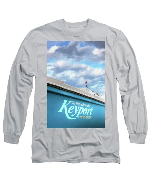 Long Sleeve T-Shirt featuring the photograph Painterly Keyport Sailboat by Gary Slawsky