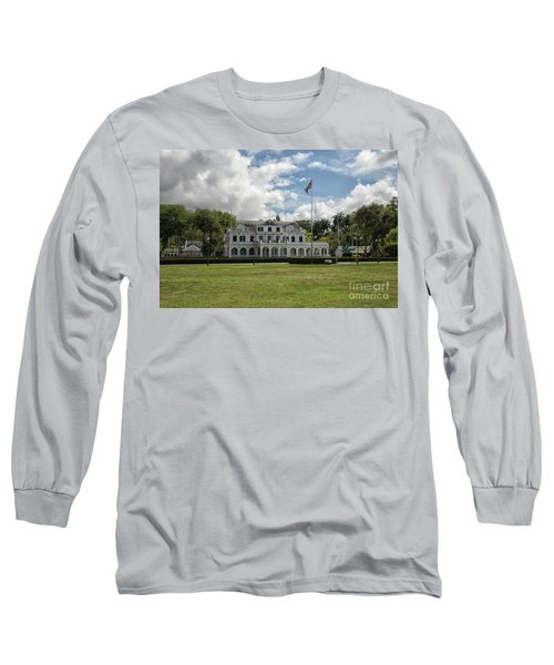 Palace Of President In Paramaribo Long Sleeve T-Shirt by Patricia Hofmeester