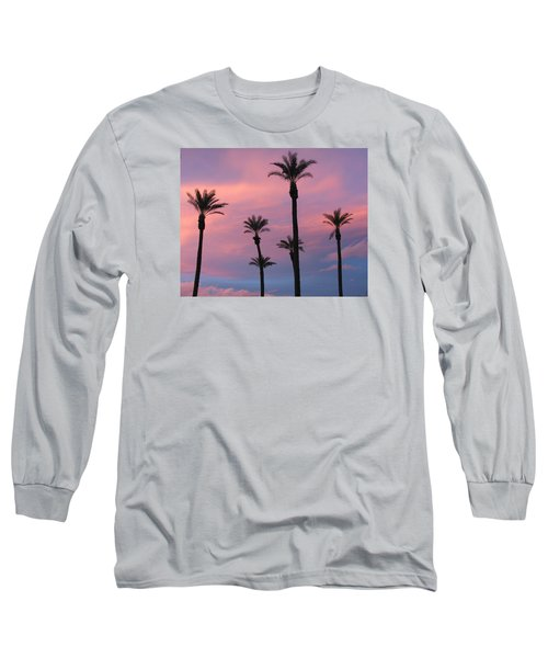 Long Sleeve T-Shirt featuring the photograph Palms At Sunset by Phyllis Kaltenbach