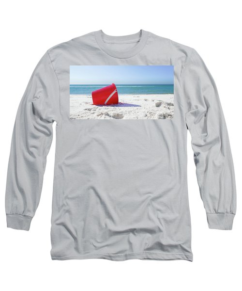 Panama Beach Florida Sandy Beach Long Sleeve T-Shirt