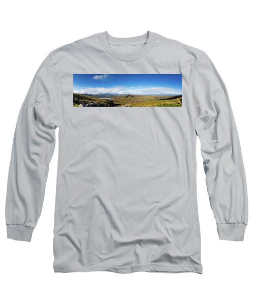 Panorama Of Ballycullane And Lough Acoose In Ireland Long Sleeve T-Shirt by Semmick Photo