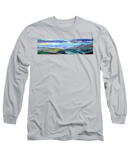 Panoramic View From Exeter Of Devon Hills Long Sleeve T-Shirt
