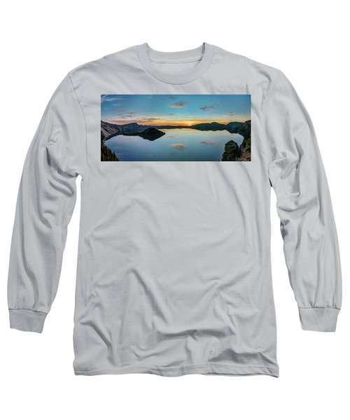 Long Sleeve T-Shirt featuring the photograph Panoramic View Of Crater Lake by Pierre Leclerc Photography