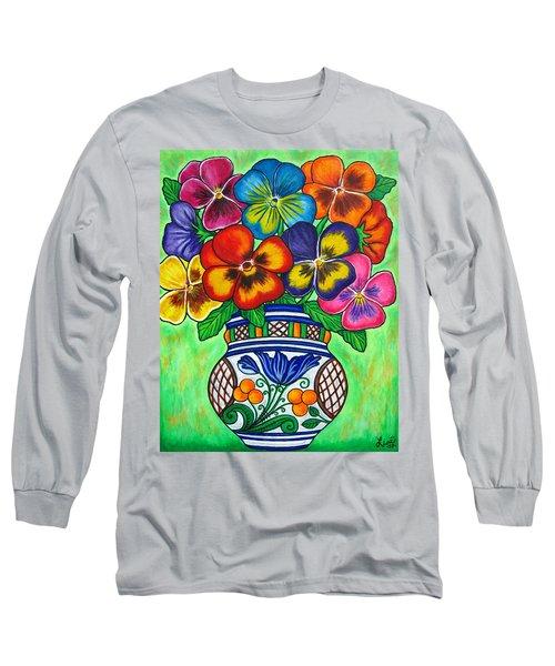 Pansy Parade Long Sleeve T-Shirt