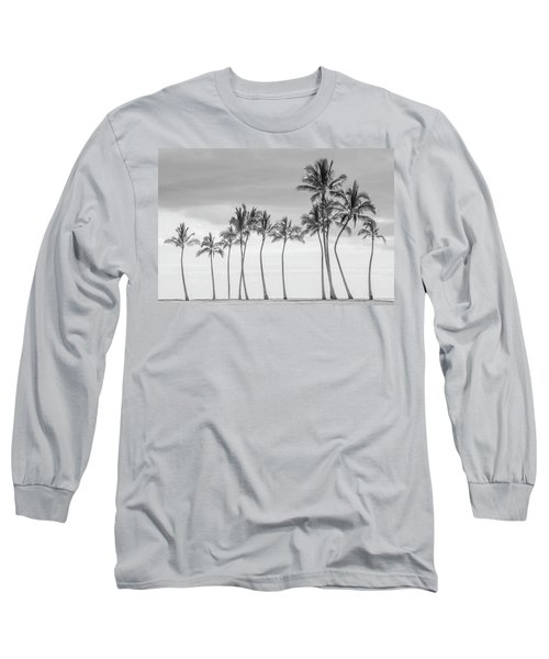 Paradise In Black And White Long Sleeve T-Shirt