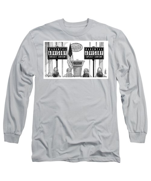 Parental Advisory Explicit Content Long Sleeve T-Shirt