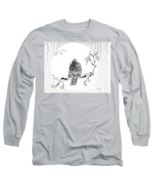 Party Time In Birdville Long Sleeve T-Shirt by Jan Steinle