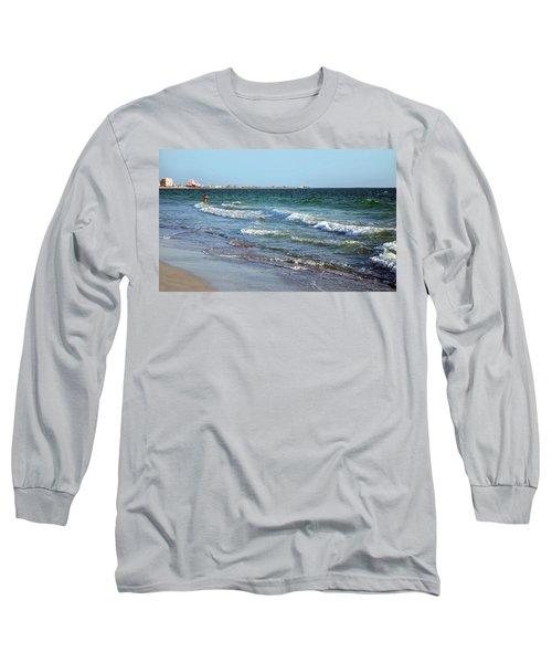 Passagrill Beach Long Sleeve T-Shirt by Ginny Schmidt