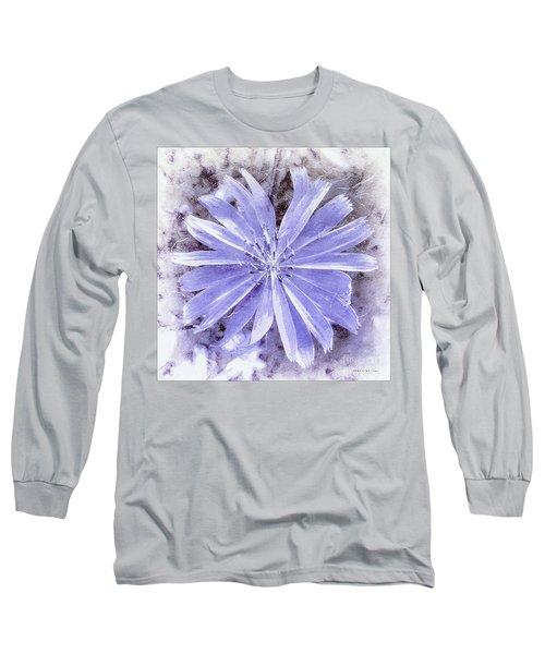 Purple Blue Daisy Long Sleeve T-Shirt