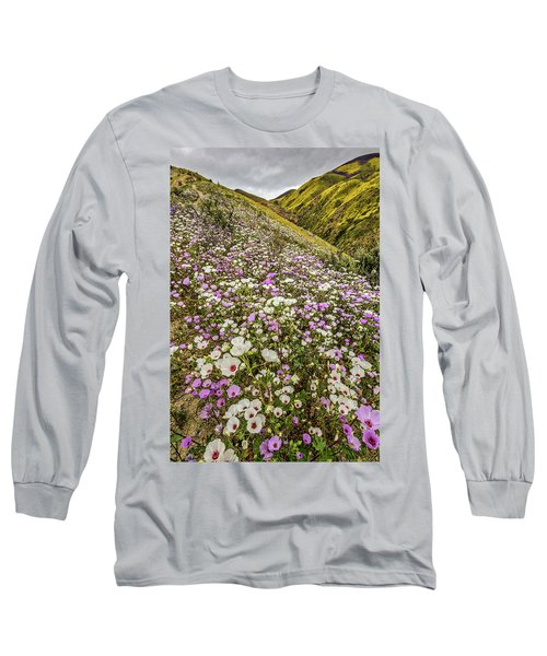 Long Sleeve T-Shirt featuring the photograph Pastel Super Bloom by Peter Tellone
