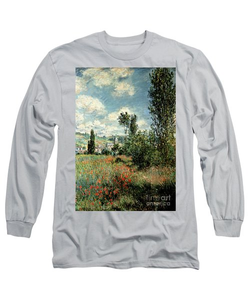 Path Through The Poppies Long Sleeve T-Shirt