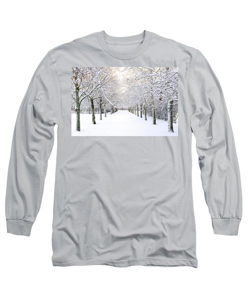 Pathway In Snow Long Sleeve T-Shirt