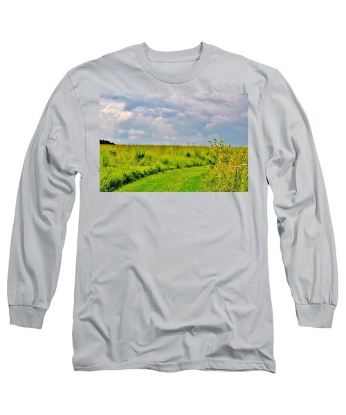 Pathway Through Wildflowers Long Sleeve T-Shirt