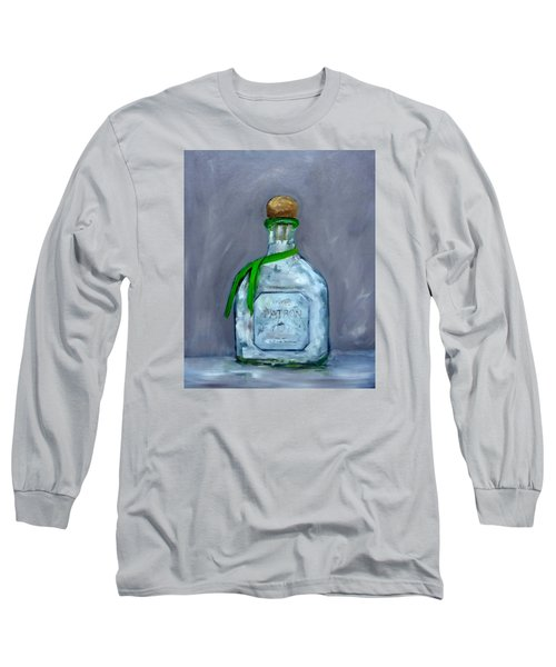 Patron Silver Tequila Bottle Man Cave  Long Sleeve T-Shirt