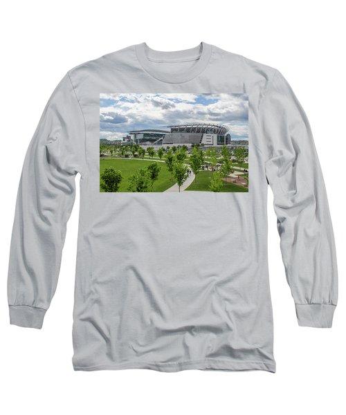 Paul Brown Stadium Color Long Sleeve T-Shirt by Scott Meyer