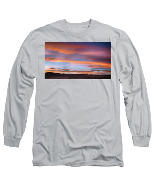 Pawnee Sunset Long Sleeve T-Shirt by Monte Stevens