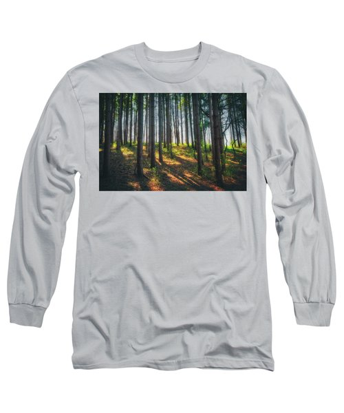 Peaceful Forest - Spring At Retzer Nature Center Long Sleeve T-Shirt by Jennifer Rondinelli Reilly - Fine Art Photography