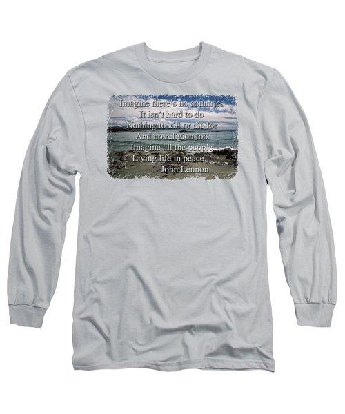 Long Sleeve T-Shirt featuring the photograph Peaceful Pacific Beach by Richard Farrington