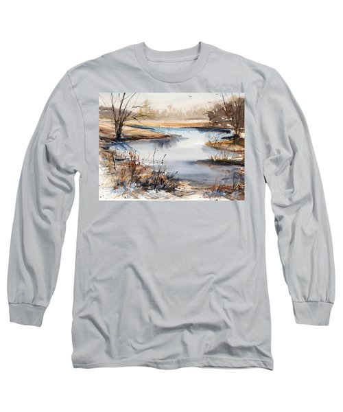 Peaceful Stream Long Sleeve T-Shirt by Judith Levins
