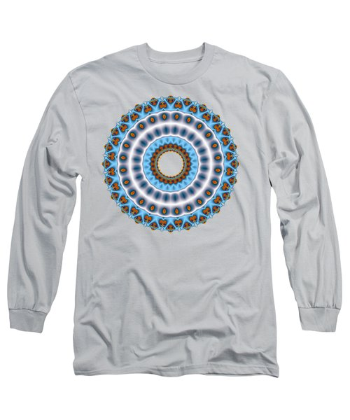 Peacock Fractal Mandala I Long Sleeve T-Shirt