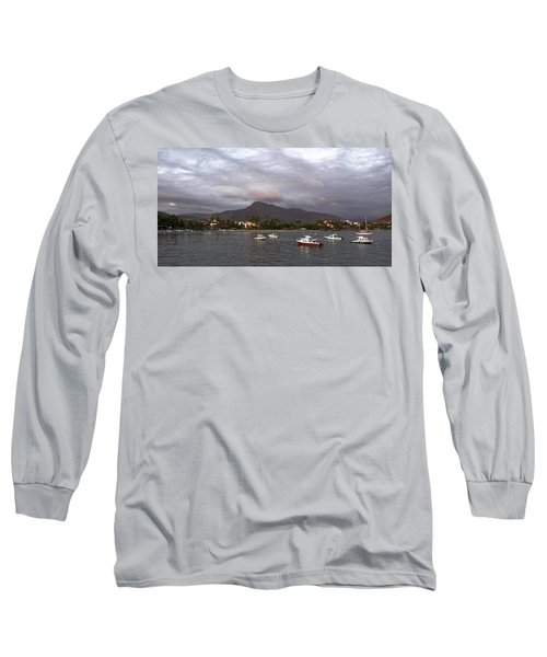 Long Sleeve T-Shirt featuring the photograph Peaceful by Jim Walls PhotoArtist